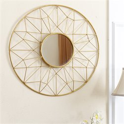 Abbyson Living Westlake Decorative Mirror in Gold