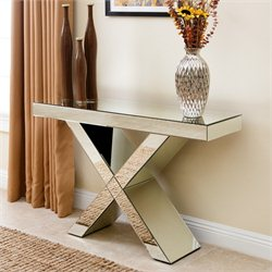 Abbyson Living Noah Console Sofa Table in Silver