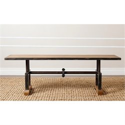 Abbyson Living Bixel Industrial Coffee Table in Beige