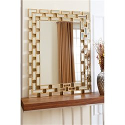 Abbyson Living Kayla Rectangle Wall Mirror in Gold