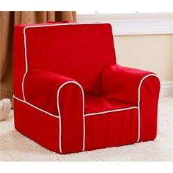 Abbyson Living Kids Baby's 1st Fabric Armchair in Red