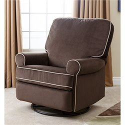 Abbyson Living Marcus Fabric Swivel Glider Recliner Chair