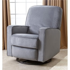 Abbyson Living Ravenna Fabric Swivel Glider Recliner Chair
