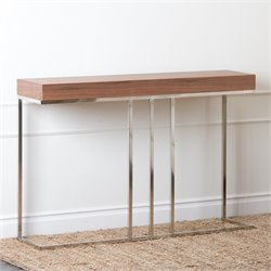 Abbyson Living Torra Wood Console Table in Walnut