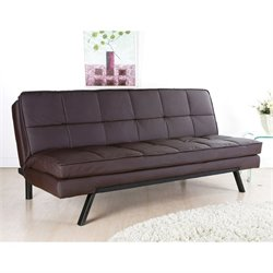 Abbyson Living Bradley Faux Leather Sleeper Sofa in Brown