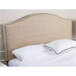 Abbyson Living Ranta Linen Upholstered Full Queen Headboard in Wheat