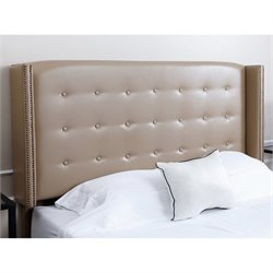 Abbyson Living Tafton Leather Upholstered Full Queen Headboard
