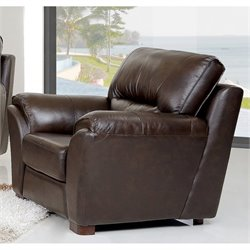 Abbyson Living Campton Leather Arm Chair in Espresso