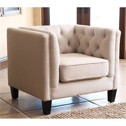 Abbyson Living Torra Fabric Arm Chair in Espresso