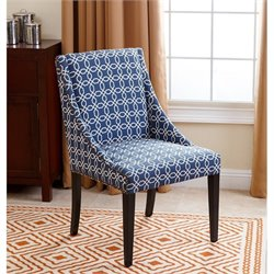 Abbyson Living Shelton Dining Chair in Navy Blue