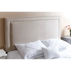 Abbyson Living Shiloh Queen Full Nail Head Trim Headboard in Ivory