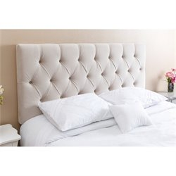 Abbyson Living Dakota Queen Full Tufted Headboard in Ivory
