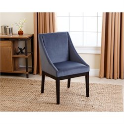 Abbyson Living Mcqueen Curved Dining Chair in Blue