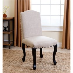 Abbyson Living Allegra Upholstered Dining Chair in Natural