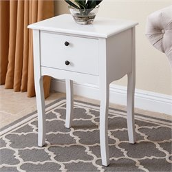 Abbyson Living Basil End Table in White