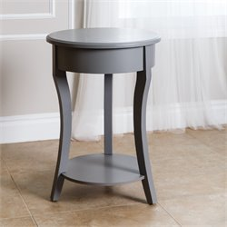 Abbyson Living Lucca End Table in Steel Blue