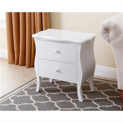 Abbyson Living Bellini 2 Drawer Nightstand in White