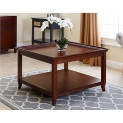 Abbyson Living Charlot Square Coffee Table in Light Brown
