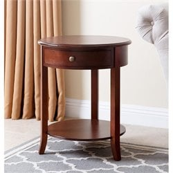 Abbyson Living Anderson 1 Drawer End Table in Light Brown