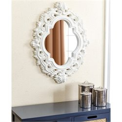 Abbyson Living Preston Wall Mirror in White