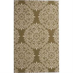 Abbyson Living Emery 8' x 10' New Zealand Wool Rug in Floral Moss
