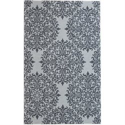 Abbyson Living Emery 8' x 10' New Zealand Wool Rug in Floral Teal