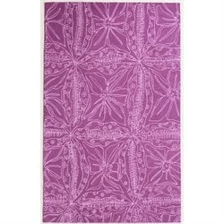 Abbyson Living 8' x 10' New Zealand Wool Rug in Magenta