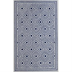 Abbyson Living 8' x 10' New Zealand Wool Rug in Royal Blue
