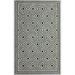 Abbyson Living 8' x 10' New Zealand Wool Rug in Forest Green
