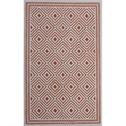 Abbyson Living 8' x 10' New Zealand Wool Rug in Burnt Orange