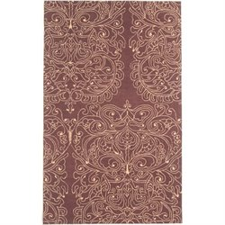 Abbyson Living 8' x 10' New Zealand Wool Rug in Dark Brown