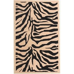 Abbyson Living 8' x 10' New Zealand Wool Rug in Black