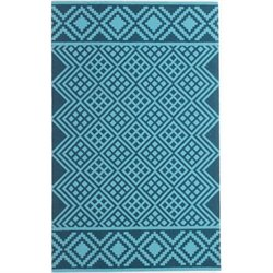 Abbyson Living 8' x 10' New Zealand Wool Rug in Dark Teal