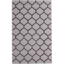 Abbyson Living 5' x 8' New Zealand Wool Rug in Gray