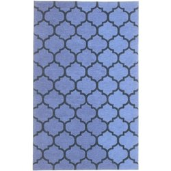 Abbyson Living 8' x 10' New Zealand Wool Rug in Cerulean Blue