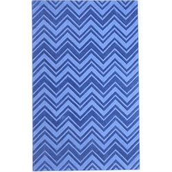 Abbyson Living 8' x 10' New Zealand Wool Rug in Blue