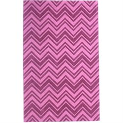 Abbyson Living 8' x 10' New Zealand Wool Rug in Dark Pink