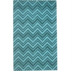 Abbyson Living 8' x 10' New Zealand Wool Rug in Emerald Green