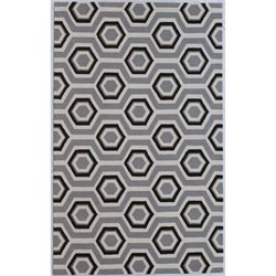 Abbyson Living 8' x 10' New Zealand Wool Rug in Gray