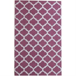 Abbyson Living 8' x 10' New Zealand Wool Rug in Plum