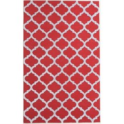 Abbyson Living 8' x 10' New Zealand Wool Rug in Red