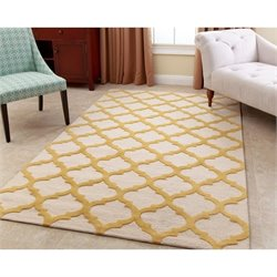 Abbyson Living 8' x 10' New Zealand Wool Rug in Yellow
