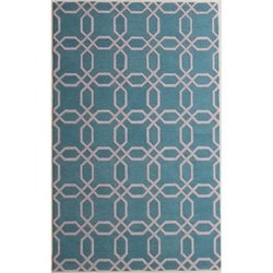 Abbyson Living 3' x 5' New Zealand Wool Rug in Light Turquoise