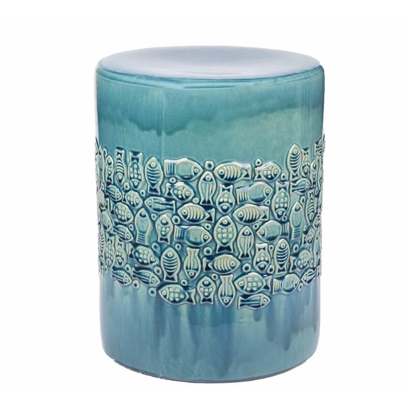 Exceptionnel Abbyson Ceramic Garden Stool In Teal