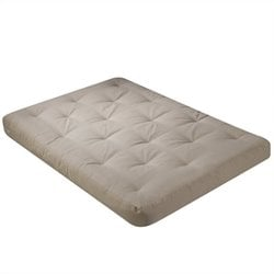 Wolf USF-3 8 Inch Futon Mattress with 2 Inch Premium Foam in Khaki - Full