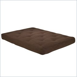 Wolf USF-3 8 Inch Futon Mattress in Chocolate Micro Fiber - Full