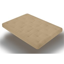 Wolf USF-4 8 Inch Futon Mattress with 2.5 Inch Finger Foam in Khaki