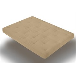 Wolf USF-7 8 Inch Innerspring Futon Mattress in Khaki
