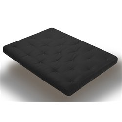 Wolf USF-7 8 Inch Innerspring Futon Mattress in Black