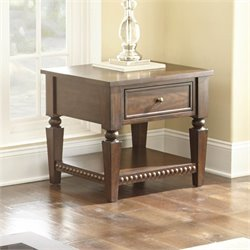 Steve Silver Livonia Square End Table in Brown Cherry